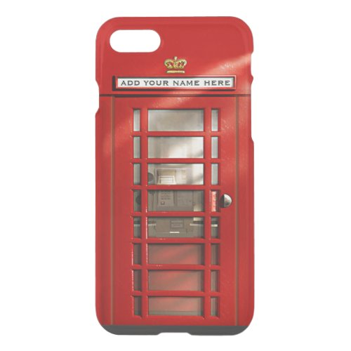 Funny British Red Phone Booth Personalized Phone Case