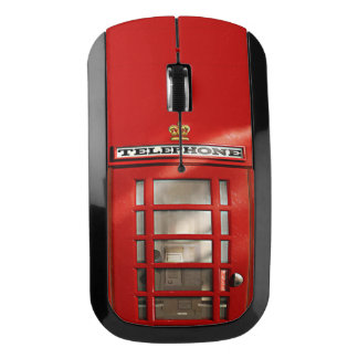 Funny British Red Phone Booth Wireless Mouse