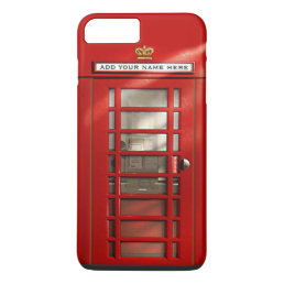 Funny British Red Telephone Box Personalized iPhone 8 Plus/7 Plus Case