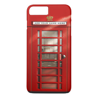 Funny British Red Telephone Box Personalized iPhone 8 Plus/7 Plus Case