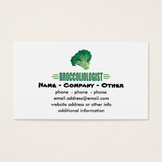 Funny Broccoli Business Card