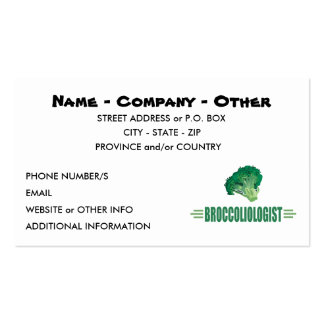 Funny Broccoli Business Card Template