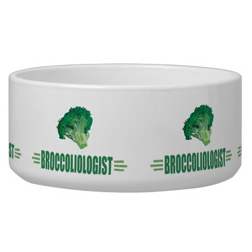 Funny Broccoli Dog Bowl
