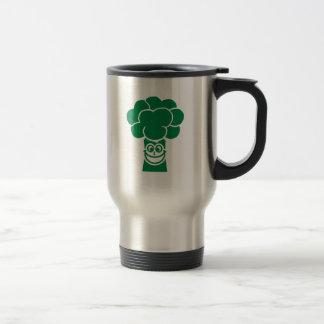 Funny broccoli face 15 oz stainless steel travel mug