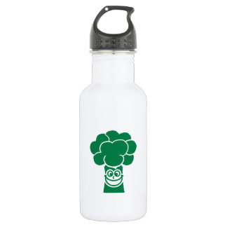 Funny broccoli face 18oz water bottle