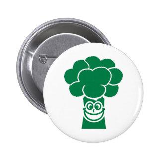 Funny broccoli face 2 inch round button