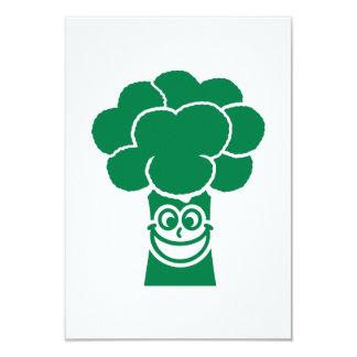 Funny broccoli face 3.5x5 paper invitation card