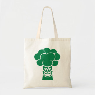 Funny broccoli face canvas bags