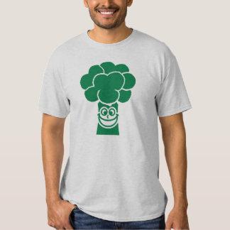 Funny broccoli face t shirt