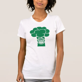 Funny broccoli face tee shirts