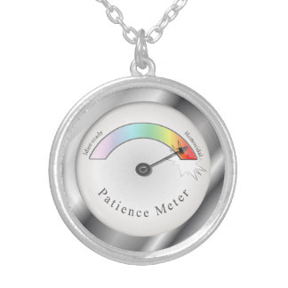 Funny Broken Patience Meter Necklace