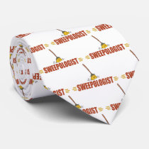 Funny Broom Sweeping Neck Tie