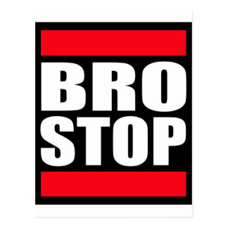 Funny BROSTOP Anti Brostep Dubstep Postcard