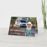 """Funny Brother-in-Law Birthday Card<br><div class=""""desc"""">Customizable funny card for a male or male relative,  especially a guy who enjoys camping.  The background pictures front and inside are thanks to publicdomainpictures.net</div>"""