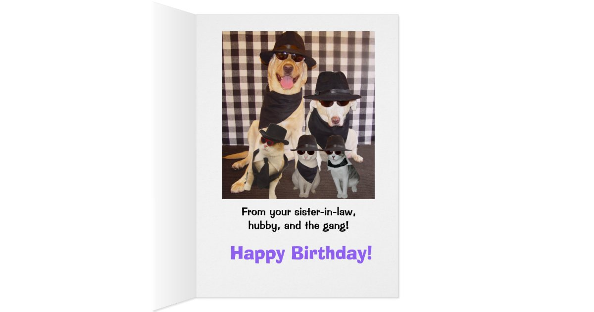 Funny Brother-in-law Birthday Card | Zazzle.com