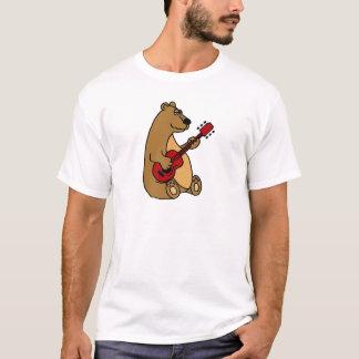 Funny Brown Bear Playing Guitar T-Shirt