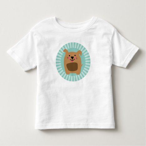 Funny Brown Dog - Cute Puppy Turquoise Toddler T-shirt