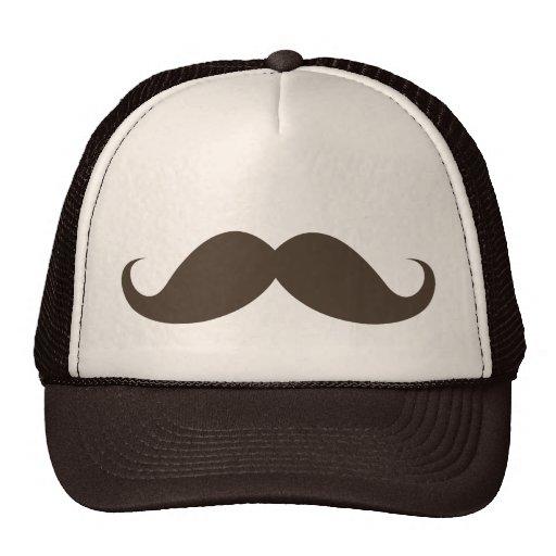 Funny brown handlebar mustache moustache trucker hats