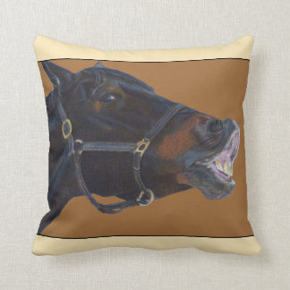 Funny Brown Horse American MoJo Pillow