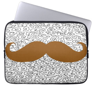 Funny Brown Mustache Computer Sleeve