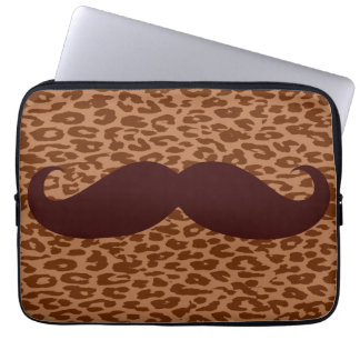 Funny Brown Mustache Laptop Computer Sleeve
