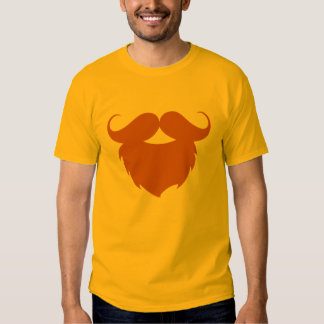 Funny Brown Mustache Tee Shirts