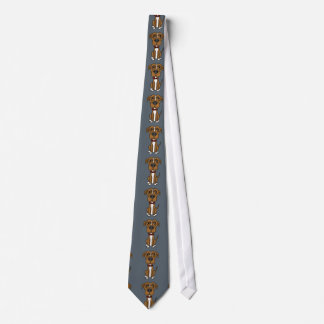 Funny Brown Pit Bull Puppy Dog Cartoon Neck Tie
