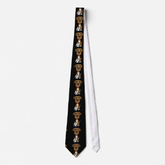 Funny Brown Pit bull Puppy dog Playing soccer Neck Tie