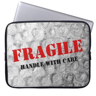 Funny bubble wrap texture laptop sleeve | Fragile