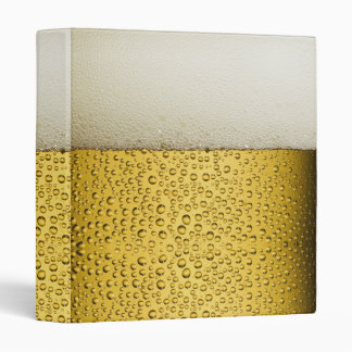 Funny Bubbles Beer Glass Gold 3 Ring Binder