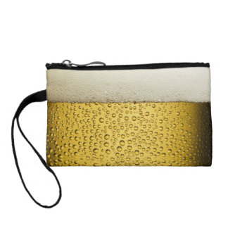 Funny Bubbles Beer Glass Gold Coin Purse