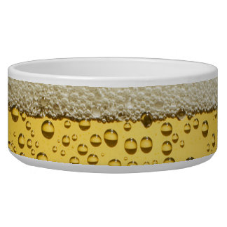 Funny Bubbles Beer Glass Gold Dog Food Bowls