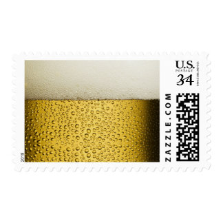 Funny Bubbles Beer Glass Gold Postage