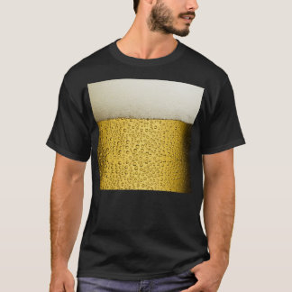 Funny Bubbles Beer Glass Gold T-Shirt