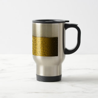 Funny Bubbles Beer Glass Gold Travel Mug