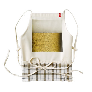 Funny Bubbles Beer Glass Gold Zazzle HEART Apron