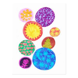 funny bubbles postcard