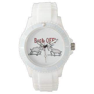 Funny Buck Off Goat Wristwatch