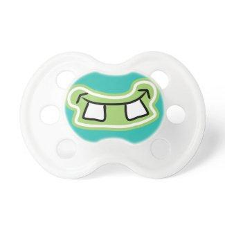 Funny Buck Teeth Monster Grin Baby Pacifier