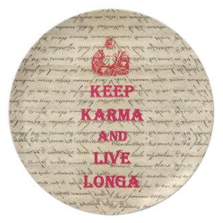Funny Buddha saying Plate