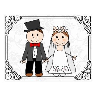 funny budget wedding invitation postcard