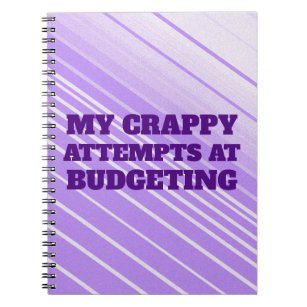 budget notebooks journals zazzle