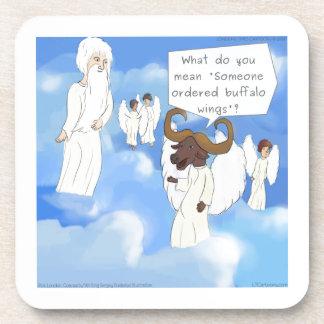 Funny Buffalo Wings In Heaven Gift Beverage Coaster
