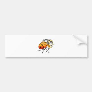 Funny Bug Running Hand Drawn Illustration Bumper Sticker