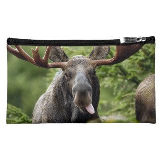 Funny Bull Moose Cosmetic Bags