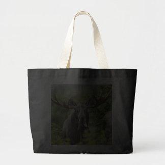 Funny Bull Moose Tote Bags
