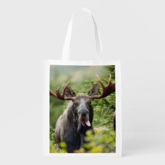 Funny Bull Moose Grocery Bag