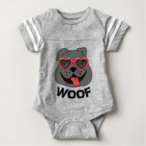 Funny Bulldog Baby Clothing Baby Bodysuit