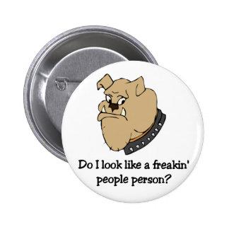 Funny bulldog button