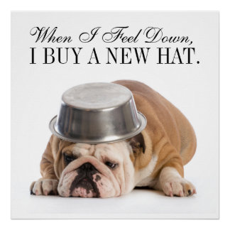 Funny Bulldog Fashion - Poster - srf